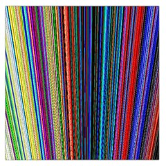 Multi Colored Lines Large Satin Scarf (Square)