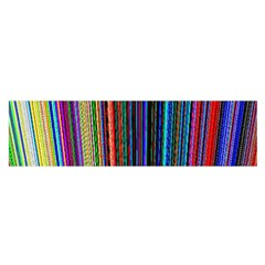 Multi Colored Lines Satin Scarf (Oblong)