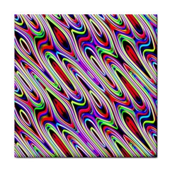 Multi Color Wave Abstract Pattern Tile Coasters
