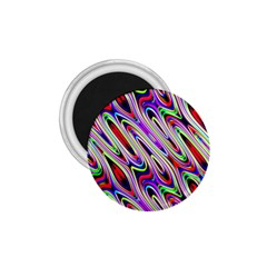 Multi Color Wave Abstract Pattern 1.75  Magnets