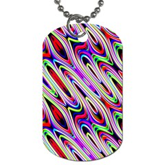 Multi Color Wave Abstract Pattern Dog Tag (two Sides)