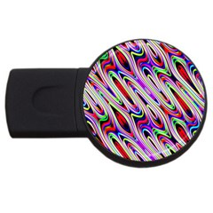 Multi Color Wave Abstract Pattern USB Flash Drive Round (1 GB)