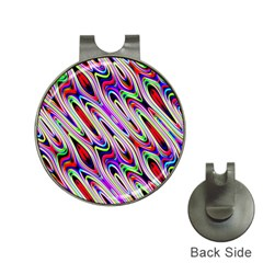 Multi Color Wave Abstract Pattern Hat Clips with Golf Markers