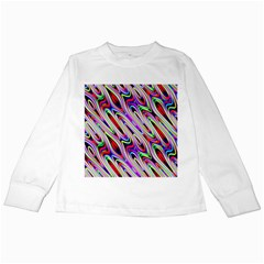 Multi Color Wave Abstract Pattern Kids Long Sleeve T Shirts