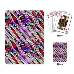 Multi Color Wave Abstract Pattern Playing Card