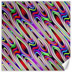 Multi Color Wave Abstract Pattern Canvas 16  x 16