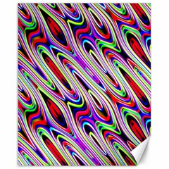 Multi Color Wave Abstract Pattern Canvas 16  X 20