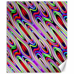Multi Color Wave Abstract Pattern Canvas 20  X 24