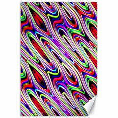 Multi Color Wave Abstract Pattern Canvas 20  x 30