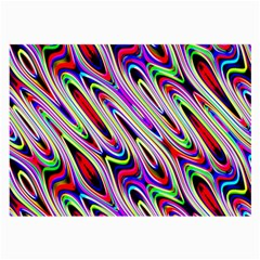 Multi Color Wave Abstract Pattern Large Glasses Cloth