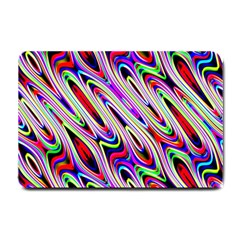 Multi Color Wave Abstract Pattern Small Doormat