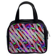 Multi Color Wave Abstract Pattern Classic Handbags (2 Sides)