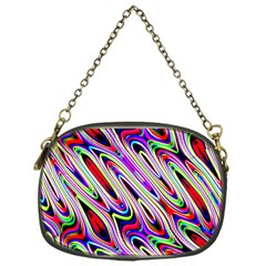 Multi Color Wave Abstract Pattern Chain Purses (One Side)