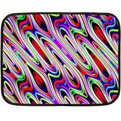 Multi Color Wave Abstract Pattern Double Sided Fleece Blanket (Mini)