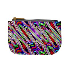 Multi Color Wave Abstract Pattern Mini Coin Purses
