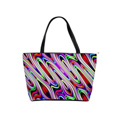 Multi Color Wave Abstract Pattern Shoulder Handbags