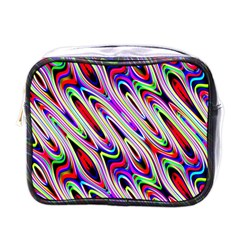 Multi Color Wave Abstract Pattern Mini Toiletries Bags