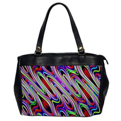 Multi Color Wave Abstract Pattern Office Handbags
