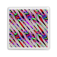 Multi Color Wave Abstract Pattern Memory Card Reader (square)