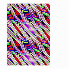 Multi Color Wave Abstract Pattern Small Garden Flag (two Sides)