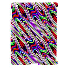 Multi Color Wave Abstract Pattern Apple iPad 3/4 Hardshell Case (Compatible with Smart Cover)