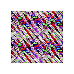 Multi Color Wave Abstract Pattern Acrylic Tangram Puzzle (4  X 4 )