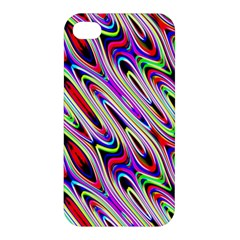 Multi Color Wave Abstract Pattern Apple iPhone 4/4S Premium Hardshell Case