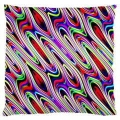 Multi Color Wave Abstract Pattern Large Cushion Case (Two Sides)