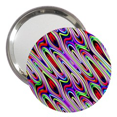 Multi Color Wave Abstract Pattern 3  Handbag Mirrors