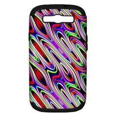Multi Color Wave Abstract Pattern Samsung Galaxy S III Hardshell Case (PC+Silicone)