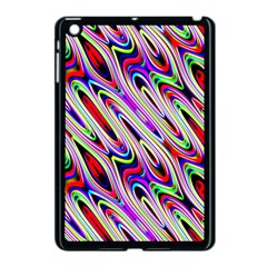 Multi Color Wave Abstract Pattern Apple iPad Mini Case (Black)