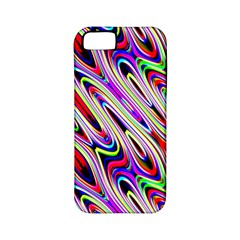 Multi Color Wave Abstract Pattern Apple iPhone 5 Classic Hardshell Case (PC+Silicone)