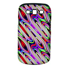 Multi Color Wave Abstract Pattern Samsung Galaxy S III Classic Hardshell Case (PC+Silicone)