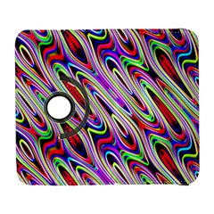 Multi Color Wave Abstract Pattern Galaxy S3 (Flip/Folio)