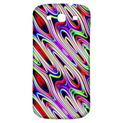 Multi Color Wave Abstract Pattern Samsung Galaxy S3 S III Classic Hardshell Back Case