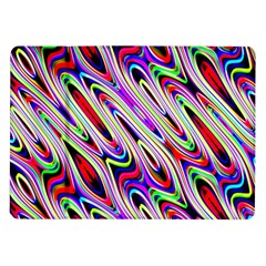 Multi Color Wave Abstract Pattern Samsung Galaxy Tab 10.1  P7500 Flip Case