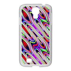 Multi Color Wave Abstract Pattern Samsung GALAXY S4 I9500/ I9505 Case (White)