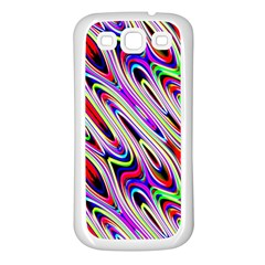 Multi Color Wave Abstract Pattern Samsung Galaxy S3 Back Case (white)