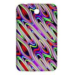 Multi Color Wave Abstract Pattern Samsung Galaxy Tab 3 (7 ) P3200 Hardshell Case