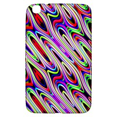 Multi Color Wave Abstract Pattern Samsung Galaxy Tab 3 (8 ) T3100 Hardshell Case