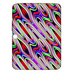 Multi Color Wave Abstract Pattern Samsung Galaxy Tab 3 (10.1 ) P5200 Hardshell Case