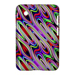 Multi Color Wave Abstract Pattern Samsung Galaxy Tab 2 (7 ) P3100 Hardshell Case
