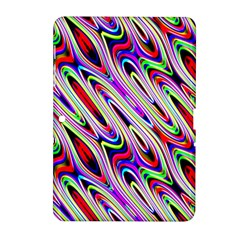 Multi Color Wave Abstract Pattern Samsung Galaxy Tab 2 (10.1 ) P5100 Hardshell Case