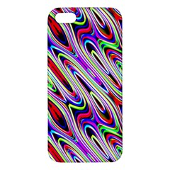 Multi Color Wave Abstract Pattern iPhone 5S/ SE Premium Hardshell Case