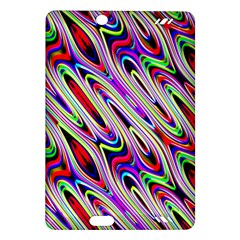 Multi Color Wave Abstract Pattern Amazon Kindle Fire HD (2013) Hardshell Case