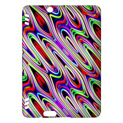 Multi Color Wave Abstract Pattern Kindle Fire HDX Hardshell Case