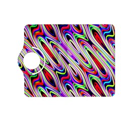 Multi Color Wave Abstract Pattern Kindle Fire HD (2013) Flip 360 Case