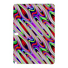 Multi Color Wave Abstract Pattern Samsung Galaxy Tab Pro 10.1 Hardshell Case