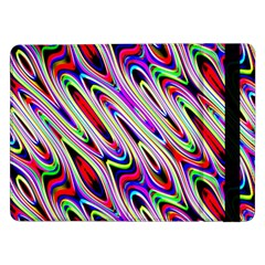 Multi Color Wave Abstract Pattern Samsung Galaxy Tab Pro 12 2  Flip Case