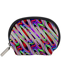 Multi Color Wave Abstract Pattern Accessory Pouches (Small)